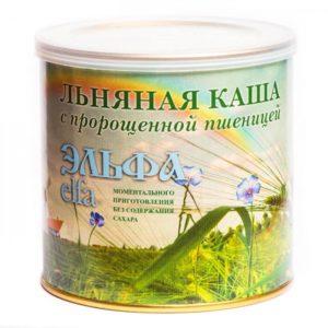 Каша льняная «Эльфа» С ПРОРОЩЕННОЙ ПШЕНИЦЕЙ 400 гр.