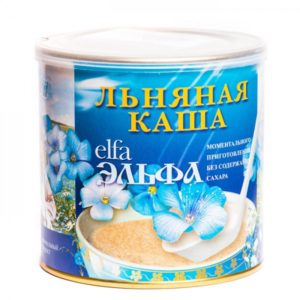 Каша льняная «Золотой лён», ЧЕРНИКА, 7 пакетов по 20 г.